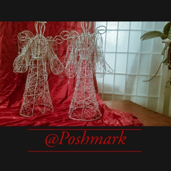 unknown Other - Matching Wire Sculpture Angels